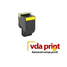 Cartus Lexmark CX310, CX410, CX510 Yellow Compatibil