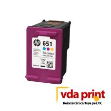 Reincarcare Cartus HP 651 (C2P11AE) tricolor